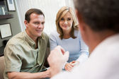 Couple in consultation at IVF clinic — Stock Photo