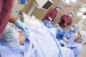 Patienten, die in ei-abruf-verfahren — Stockfoto