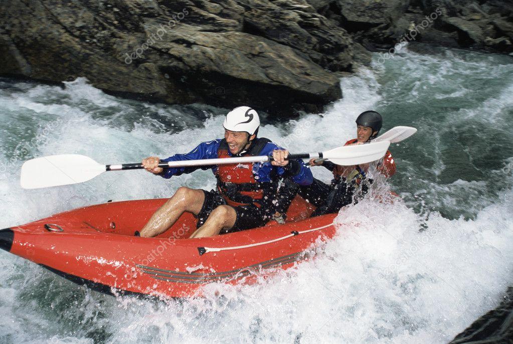 сплав по бурной воде на надувных лодках это