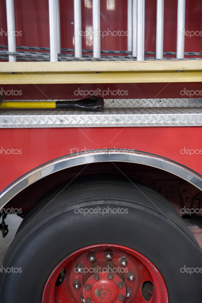 Detail of a fire engine — Stock Photo #4758186