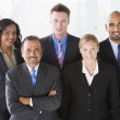 Overhead view of office staff — Stock Photo #4760045