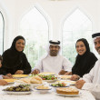 Royalty-Free Stock Photo: A Middle Eastern family enjoying a meal