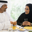 Royalty-Free Stock Photo: A Middle Eastern couple enjoying a meal