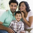 A Middle Eastern couple with their son — Stock Photo #4760515