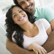 Stock Photo: A Middle Eastern couple cuddling