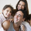 A Middle Eastern family - Stock Photo