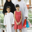 Royalty-Free Stock Photo: A Middle Eastern family in a shopping mall