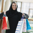 Middle Eastern womin shopping mall — Stock Photo #4760705