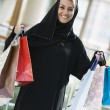 Stock Photo: Middle Eastern womin shopping mall