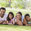 Family having picnic - Stock Photo