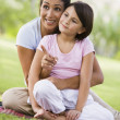 Mother and daughter in park — Stock Photo #4760818