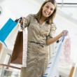 Woman shopping in mall — Stock Photo #4760899
