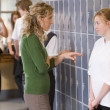 A teacher telling a student off — Stock Photo #4761194
