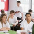 Stockfoto: High school students in class