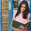University student in library — Stock Photo