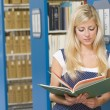 University student working in library — Foto de stock #4761425