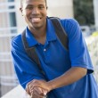Male student outside — Stock Photo