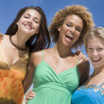 Three female friends — Stock Photo #4761667