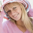 Young woman wearing straw hat — Stock Photo #4761769