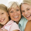 Grandmother with adult daughter and granddaughter — Stock Photo