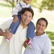 Grandfather with adult son and grandchild — Stock Photo #4763647