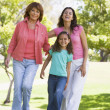 Grandmother with adult daughter and grandchild in park — Stock Photo #4763655