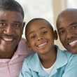 Grandfather with adult son and grandchild — Stock Photo #4763814