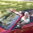Min convertible car smiling — Stock Photo #4765090