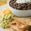 Bowl of Chilli with Tortilla Chips - Foto Stock