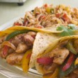 Chicken Fajita Wraps with Jambalaya - Stock Photo