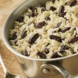 Stock Photo: Rice and Beans in Saucepan