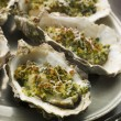 Platter of Oysters Rockefeller - Stock Photo