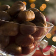 Bowl of Chestnuts in their Shells — Stock Photo