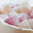 Bowl of Turkish Delight — Stock Photo
