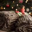 Stock Photo: Chocolate Yule Log