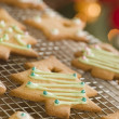 christmas tree biscuits — Stock Photo