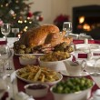 Stock Photo: Roast Turkey Christmas Spread