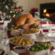 图库照片: Roast Turkey Christmas Spread