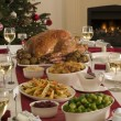 Roast Turkey Christmas Dinner — Stockfoto