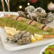 Dressed Side of Salmon Boxing Day Buffet — Stockfoto