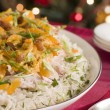 Coronation Turkey Rice Salad - Stock Photo