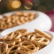 Stock Photo: Bowl of Salted Pretzels