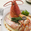 Lobster Thermidor with a Rouille Croute — Stock Photo
