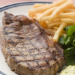 Steak Frite with Watercress and Barnaise Sauce — Stock Photo #4765587