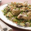 Fricassee of Chicken with Spring Vegetables - Stock fotografie