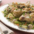 Fricassee of Chicken with Spring Vegetables - Stockfoto