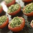 Oven Roasted Tomatoes with a Provencale Crust - Stock Photo