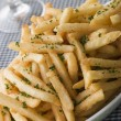 Stock Photo: Garlic French Fries with Chives