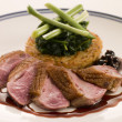 Stock Photo: Breast of Duck, with Rosti Potato and Cassis Jus
