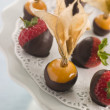 Chocolate Dipped Fruits - Stock Photo